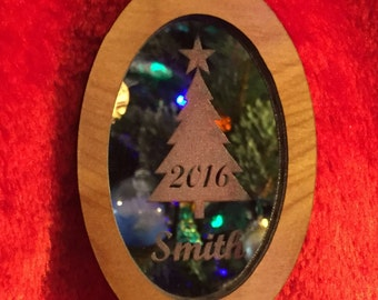Personalized Ornament - Engraved Mirror