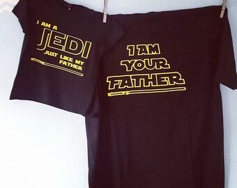 Star Wars Dad and Baby Onesie Combo / funny onesie / I am your Father / JEDI onesie / baby shower /baby clothes / Star Wars Onesie