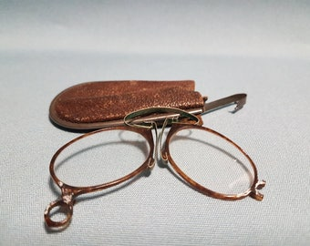 Victorian Pince-Nez Spectacles in Case