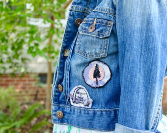 Earth Day hand embroidered patch / Save the Earth patch