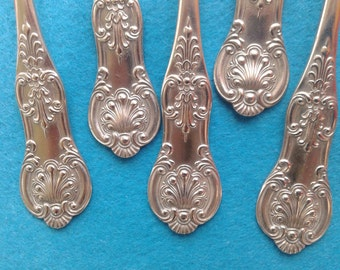 Antique POTOSI SILVER spoons, King pattern
