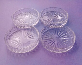 4 glass coasters