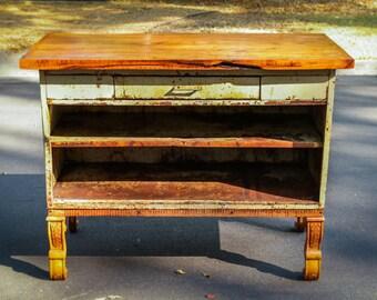 Vintage Industrial Cabinet, Metal Cabinet, Refurbished Metal Cabinet, Restored Cabinet, Rustic Metal Storage, Reclaimed Wood and Metal