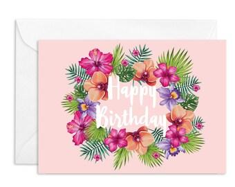 Tropical Happy Birthday Greeting Card