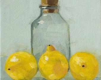 Bottle with lemons op. 2