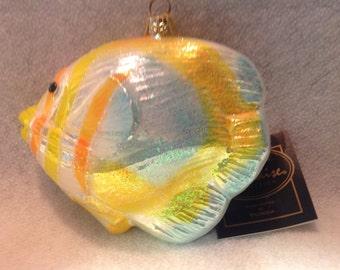 Beautiful Tropical Angel fish Polonaise Glass