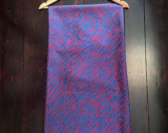 1980's Printed Thai Silk, Bengal Tigerrrrrrr !!! 4m x 1m
