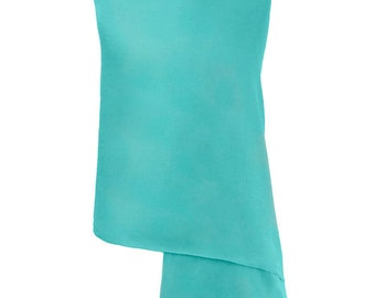 Turquoise Pashmina / Turquoise Shawl / Turquoise Wrap - 100% Cashmere - Handmade in Nepal - Pashminas and Wraps