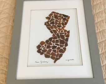 Custom State Sea Glass Art - MADE TO ORDER