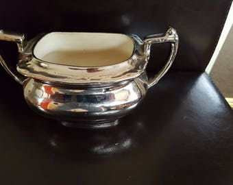 Old porcelain silver plated tureen