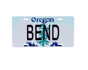 BEND Oregon License Plate