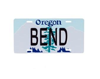 BEND Oregon License Plate
