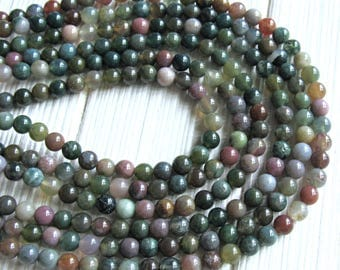 6mm Fancy Jasper, full strand, Indian Jasper beads, multicolor Jasper beads, 6mm Jasper beads, multicolor jasper, jewelry supplies, gemstone