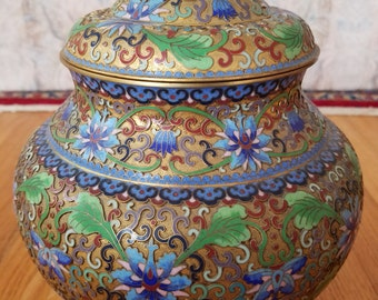 Chinese Gold Gilt Cloisonne Enamel Vase