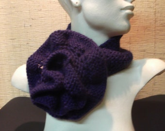Handmade flower lilac scarf or turban