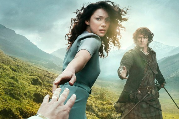 Outlander counted cross stitch pattern - Claire and Jamie Fraser - Large cross stitch chart - Cross stitch movie - DMC cross stitch - PDF