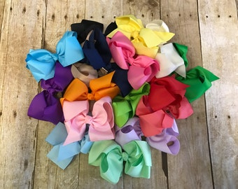 Set of 20 bows, 6 inch bows, bow bundle