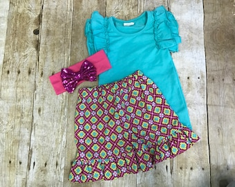 SALE!! Aztec ruffle shorts