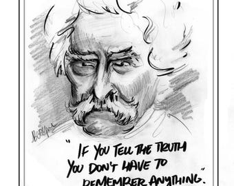 Mark Twain Print