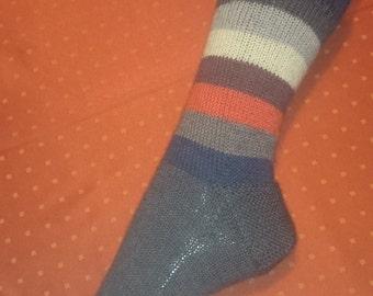 Knitting socks, size 42/44, handmade
