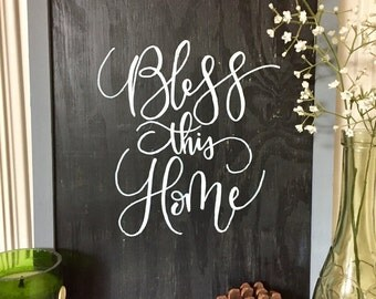 BLESS THIS HOME wood sign // Rustic Wood Sign // Home // Handmade Wood Sign //