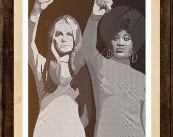 Art Print - Gloria Steinem & Dorothy Pitman Hughes