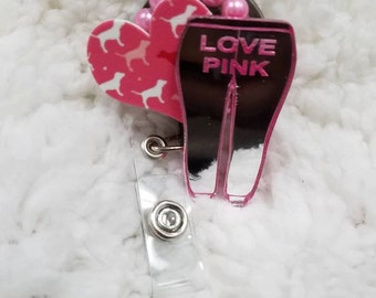 All Pink Badge Reel