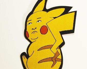 Bobby Hill x Pikachu Iron-On Patch
