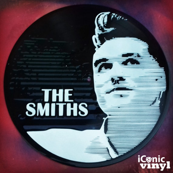 Morrisey The Smiths hand-sprayed Vinyl Record