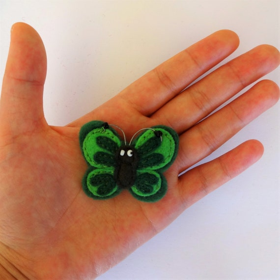 Forest Green Butterfly Brooch