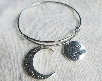 Alex and Kendra - 'To the Moon and Back' Charm Bracelet