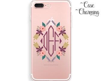 Monogram iPhone 7 Case Rubber iPhone7 Plus Case iPhone 6 Case iPhone 6s Case iPhone 6 Plus Case iPhone SE Case iPhone 6s Plus Case tumblr