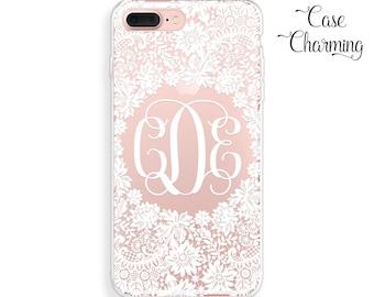 iPhone 7 Case Monogram iPhone 7 Plus Case Personalized iPhone 6 Case iPhone 6s Case Lace iPhone 6 Plus Case iPhone 6s Plus Case iPhone Case