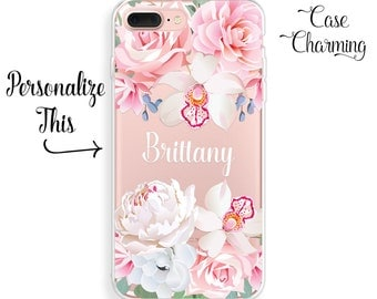 Personalized iPhone 7 Plus Case iPhone 7 Case iPhone 6s Plus Case iPhone 6 Plus Case iPhone 6s Case iPhone 6 Case iPhone SE Case Floral Case