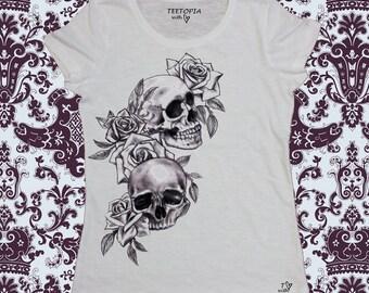 SKULL - t-shirt donna