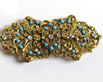 Antique art nouveau French belt buckle 1900