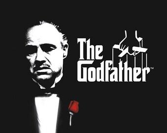 The Godfather - Al Pacino - Marlon Brando - Wall Art - Movie Print - The Godfather Movie Poster - Movie Art - 8x10 - 11x14 - 16x20 (JS00359)