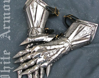 Gauntlets Sauron LOTR SCA LARP armor gauntlets larp armor sca armor fantasy steel gauntlets steel armor larp gauntlets sca gauntlets