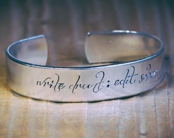 Write Drunk; Edit Sober / Writer Gift / Author Gift / Editor Gift / Literary Gift / Literary Jewelry / Quote Jewelry / Ernest Hemingway