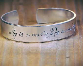 Why Is A Raven Like A Writing Desk / Alice In Wonderland Jewelry / Alice in Wonderland Gift / Riddle Gift / Literary Jewelry / Literary Gift