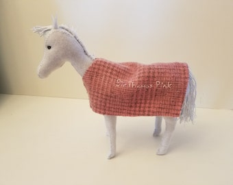Horse with blanket