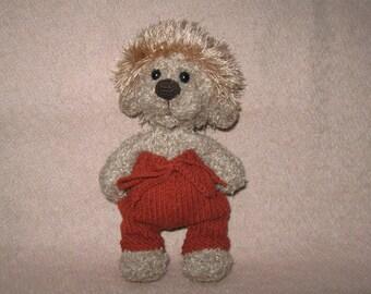 Bear cub. Teddy bear. Knitted toy. Crochet.