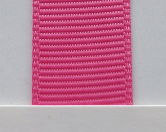"3/8"" / 10mm Solid Grosgrain Ribbon HOT PINK #156 X 2 METERS"