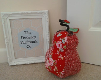 Patchwork Pear Doorstops