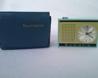 Vintage Rare Ruhla German alarm clock,  travel alarm clock, Pocket alarm clock 70-80s