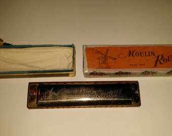 Harmonica Moulin Rouge, vintage for all buyers, shipping must be calculated in cold country.