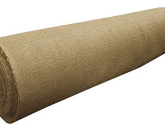 "40"" Wide 100 Yards 100% Natural Jute Upholstery Burlap Roll"