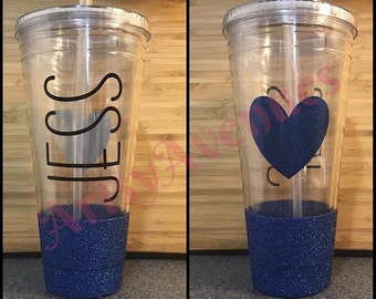 Personalized Name Tumbler with Glitter