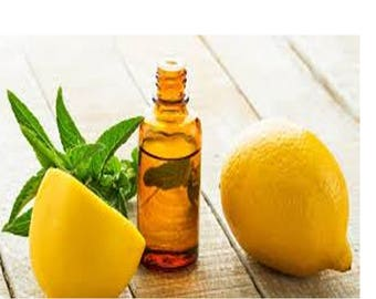 Pure & Natural Lemon Essential Oil. Aromatherapy. Massage.