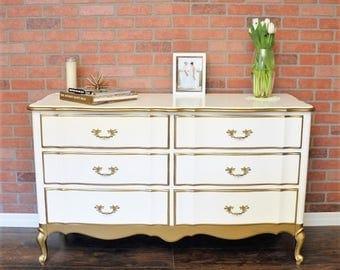 White Antique Dresser french provincial dresser | etsy